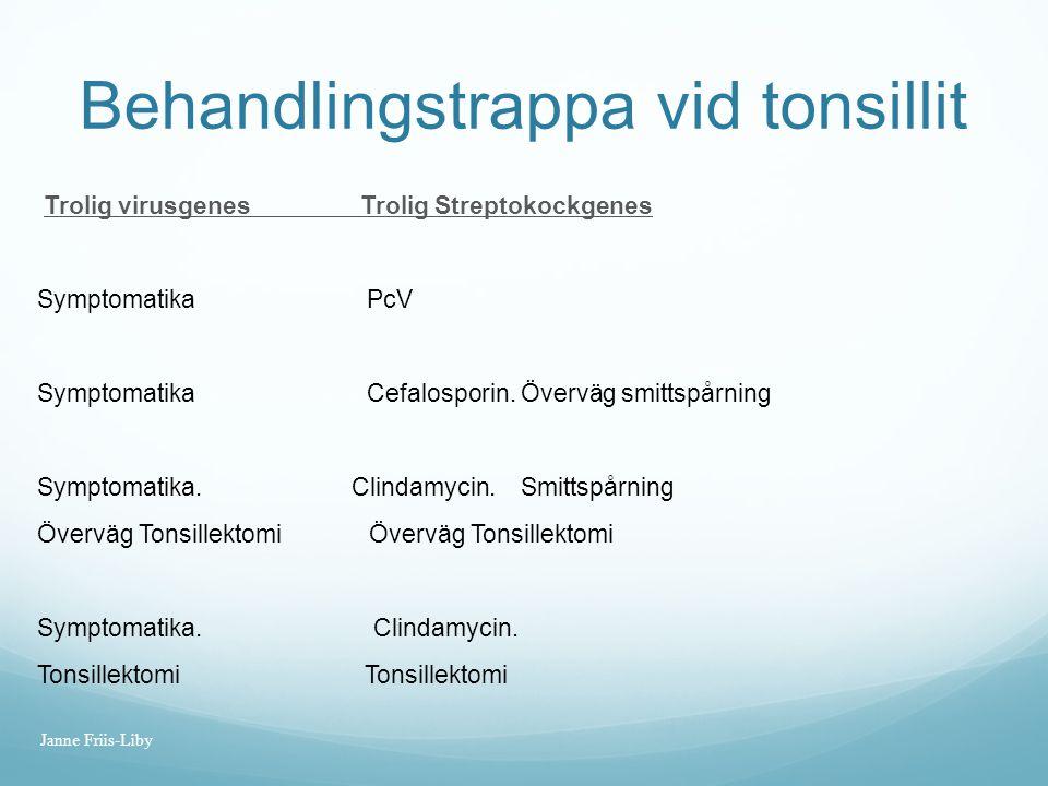 Behandlingstrappa vid tonsillit
