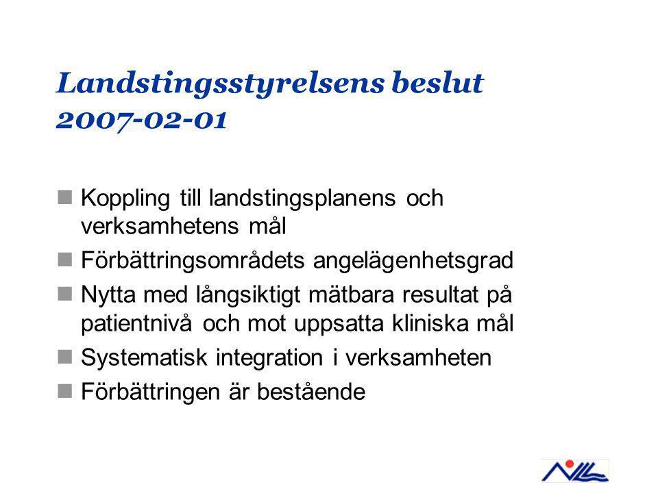 Landstingsstyrelsens beslut 2007-02-01