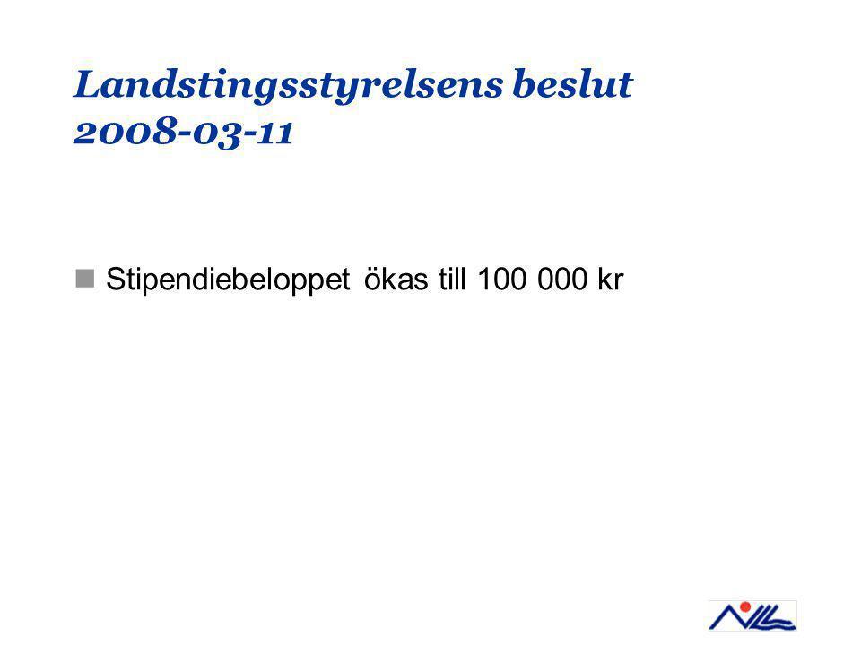 Landstingsstyrelsens beslut 2008-03-11