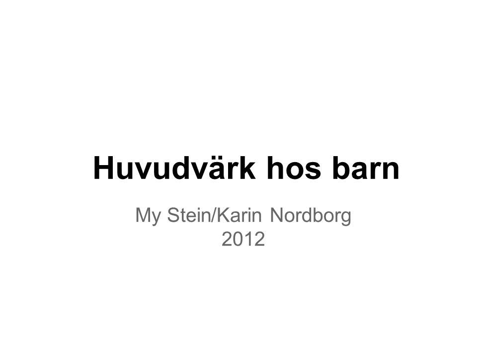 My Stein/Karin Nordborg 2012