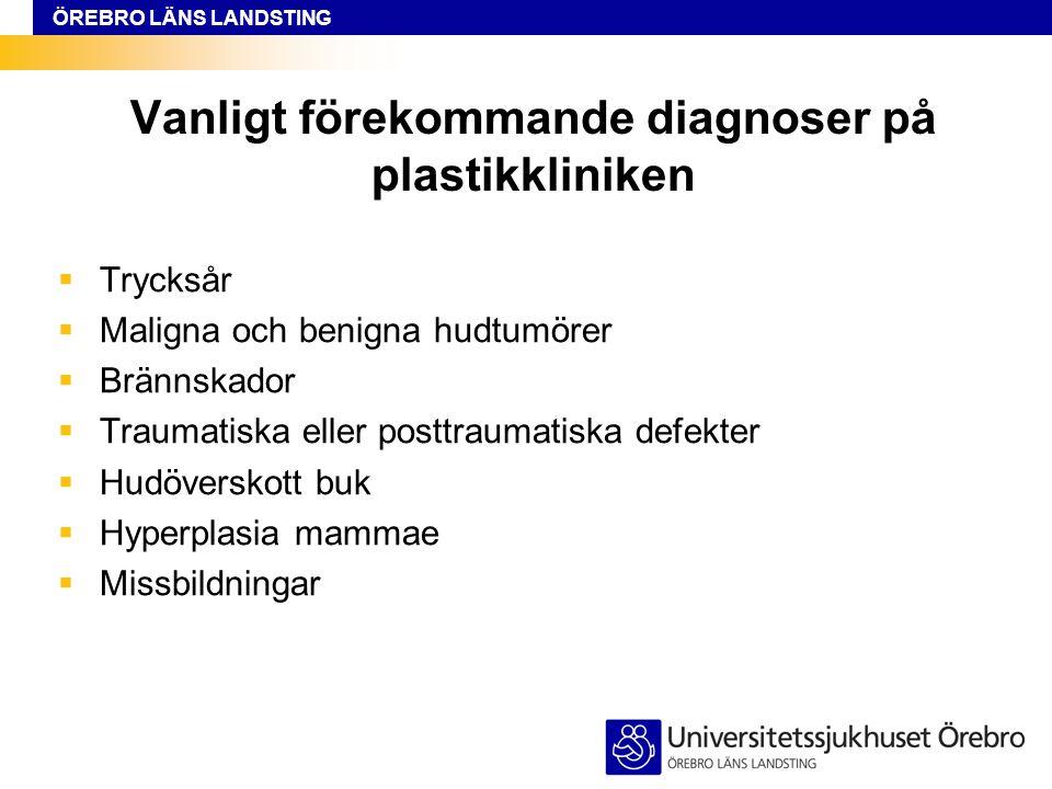 Vanligt förekommande diagnoser på plastikkliniken