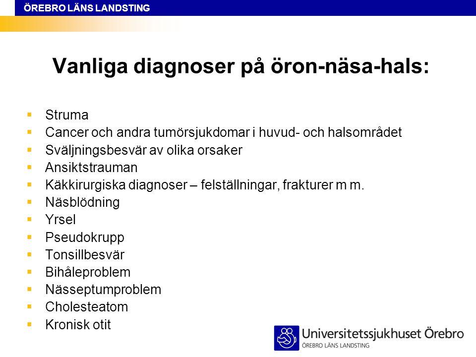 Vanliga diagnoser på öron-näsa-hals: