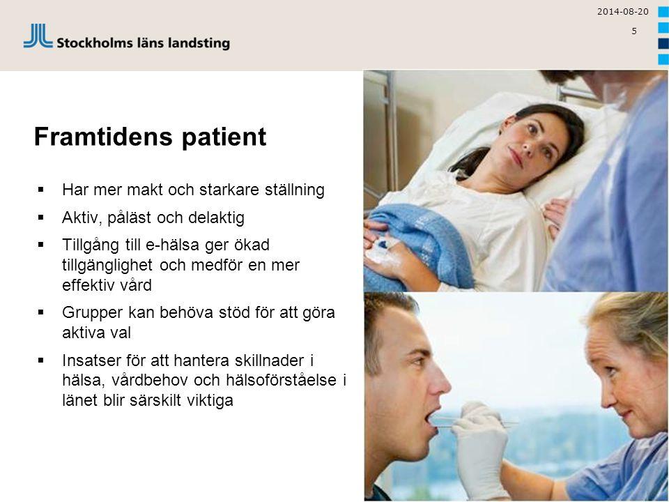 Framtidens patient Har mer makt och starkare ställning