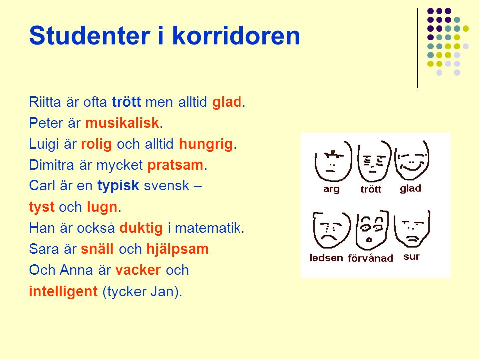 Studenter i korridoren
