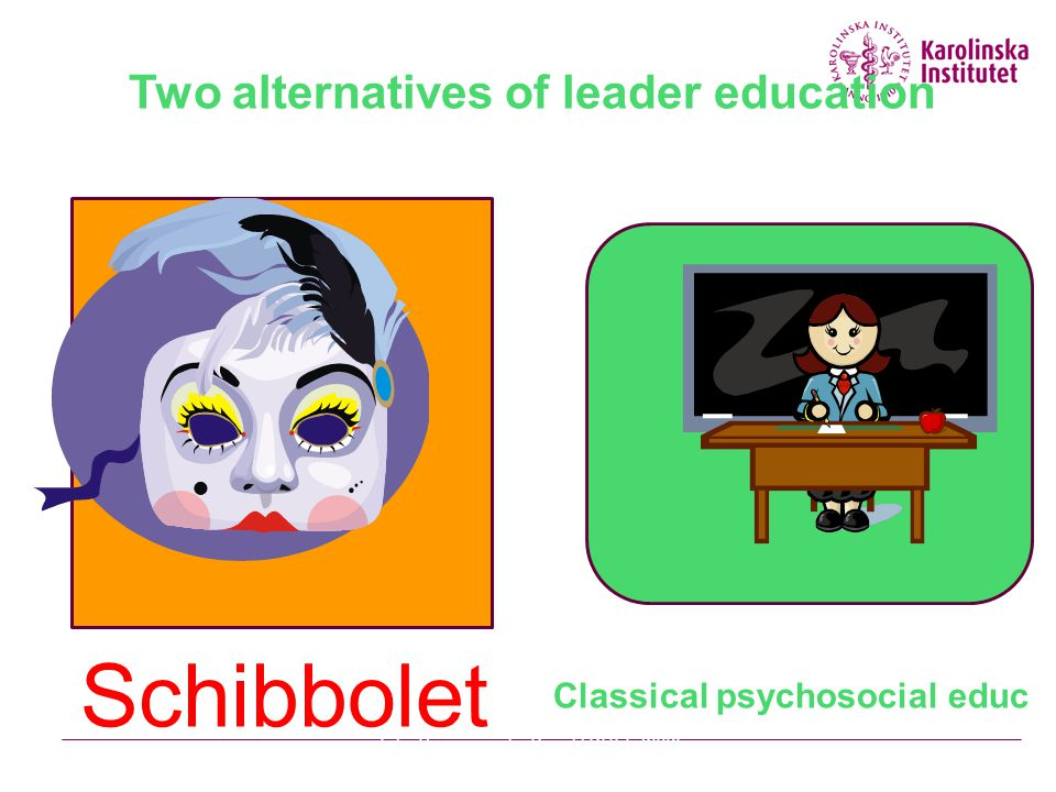 Two alternatives of leader education