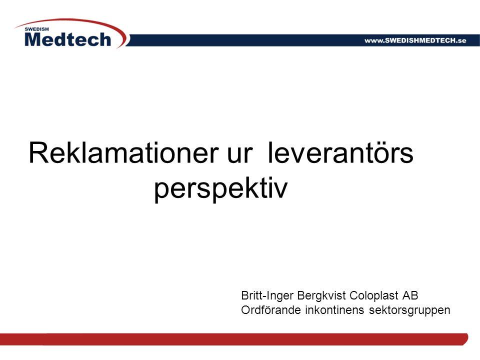 Reklamationer ur leverantörs perspektiv
