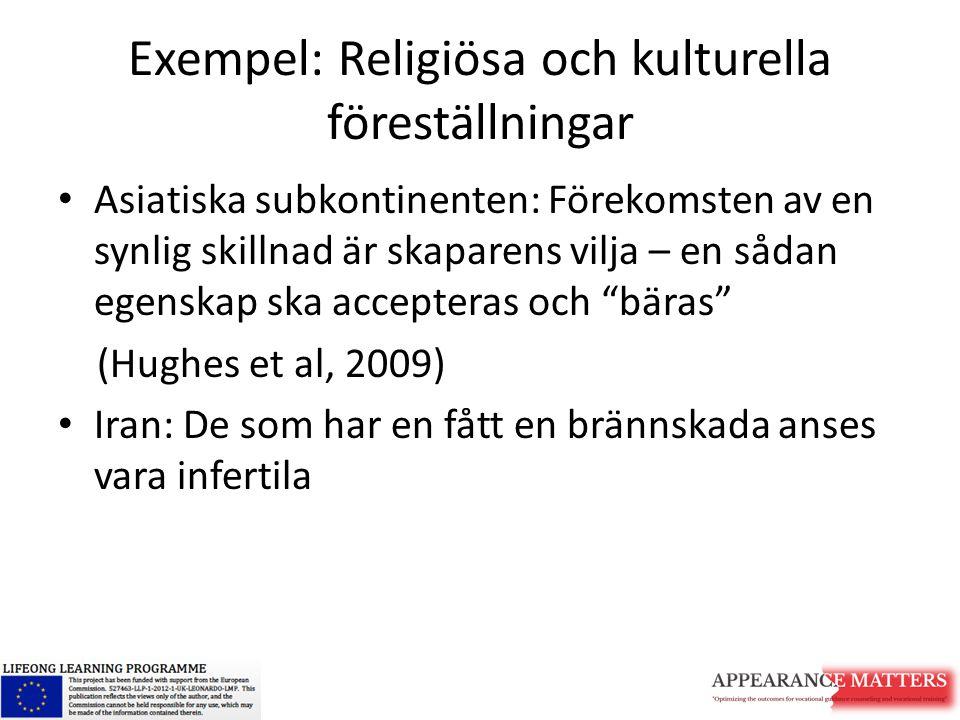 Exempel: Religiösa och kulturella föreställningar