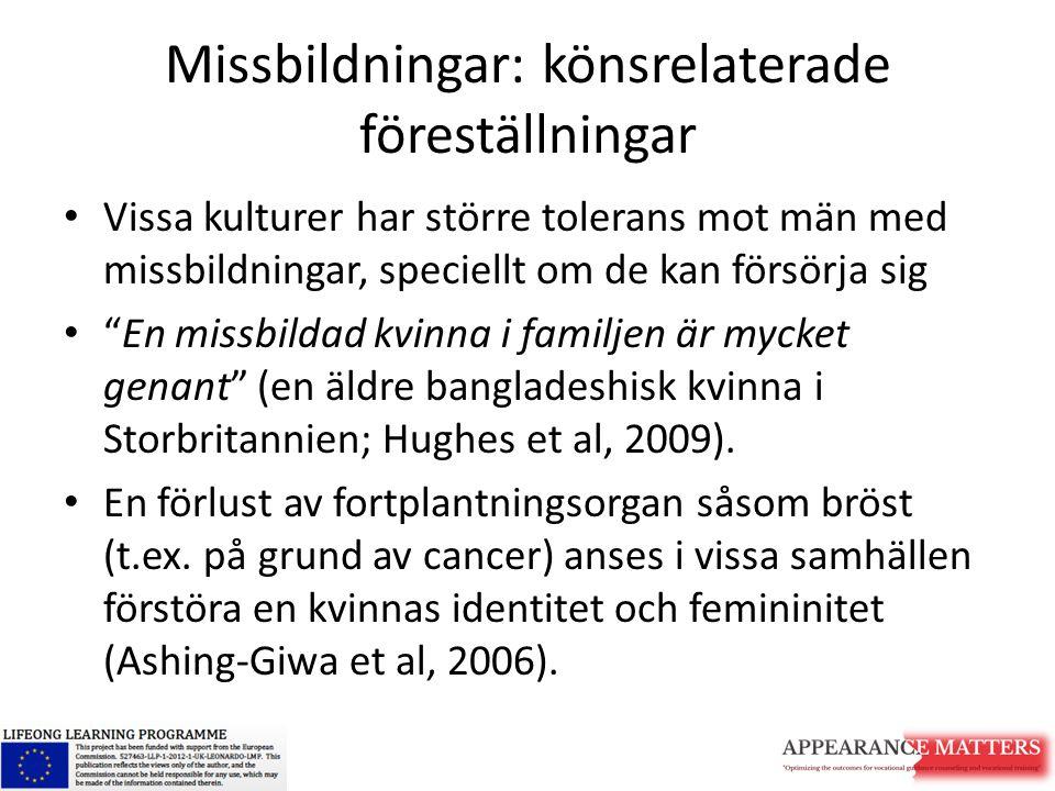 Missbildningar: könsrelaterade föreställningar
