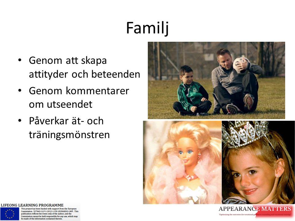 Familj Genom att skapa attityder och beteenden