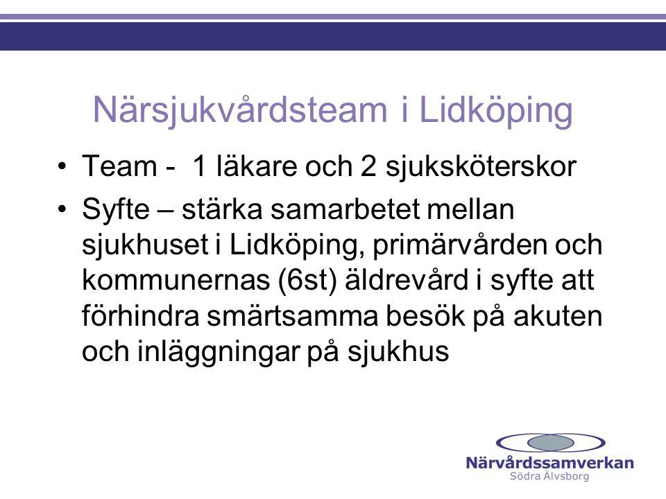 Närsjukvårdsteam i Lidköping
