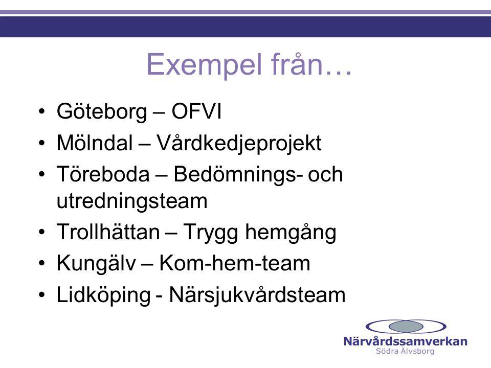 Exempel från… Göteborg – OFVI Mölndal – Vårdkedjeprojekt