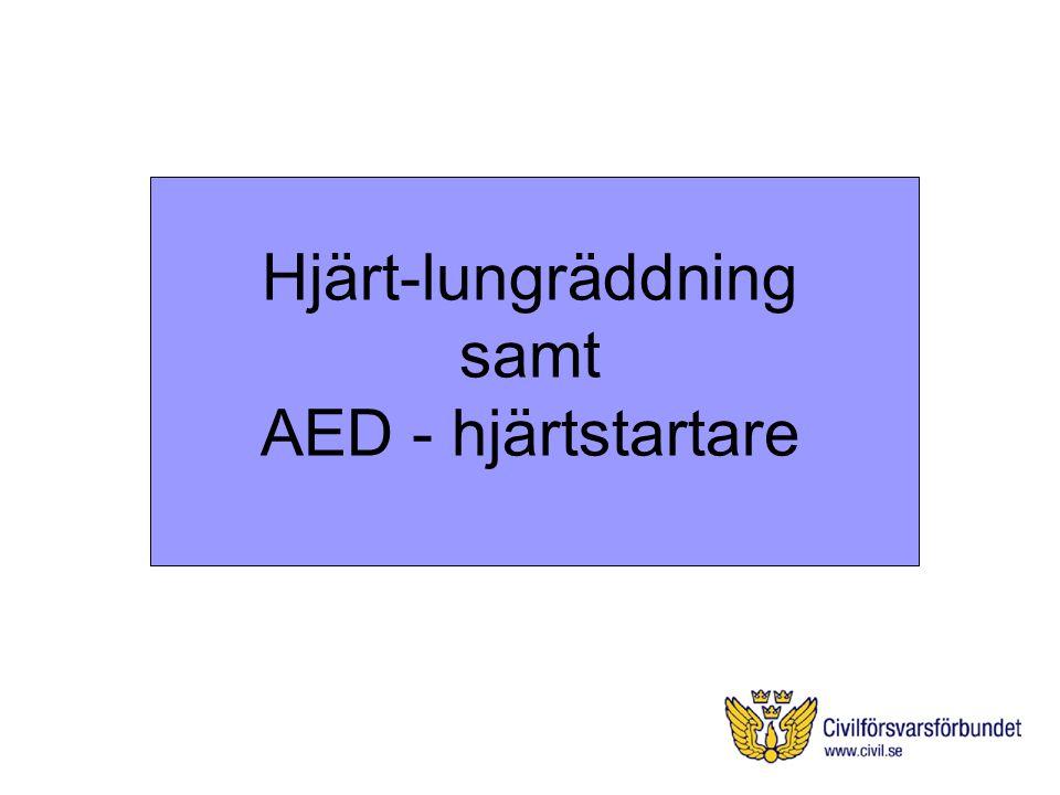 Hjärt-lungräddning samt AED - hjärtstartare