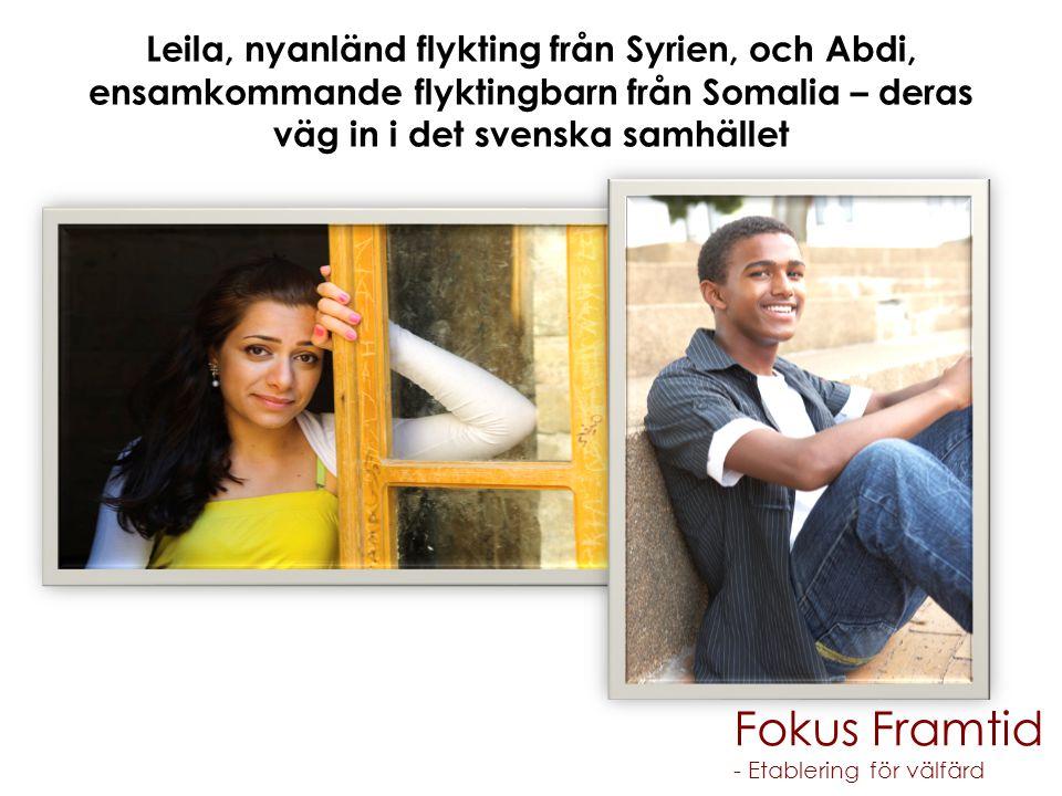 Leila, nyanländ flykting från Syrien, och Abdi, ensamkommande flyktingbarn från Somalia – deras väg in i det svenska samhället