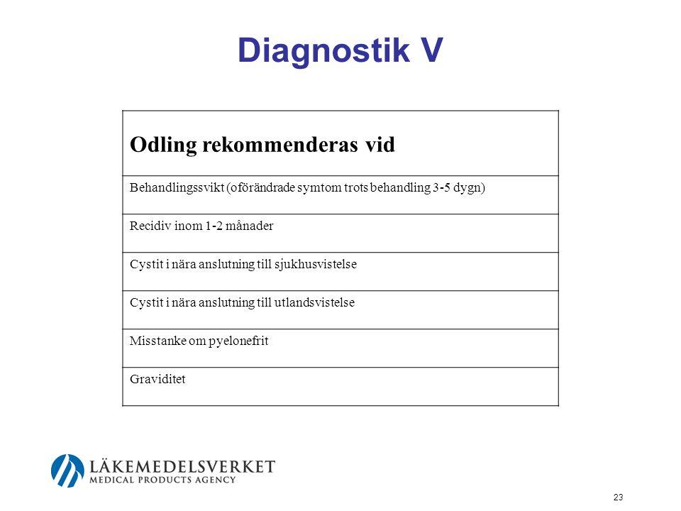 Diagnostik V Odling rekommenderas vid