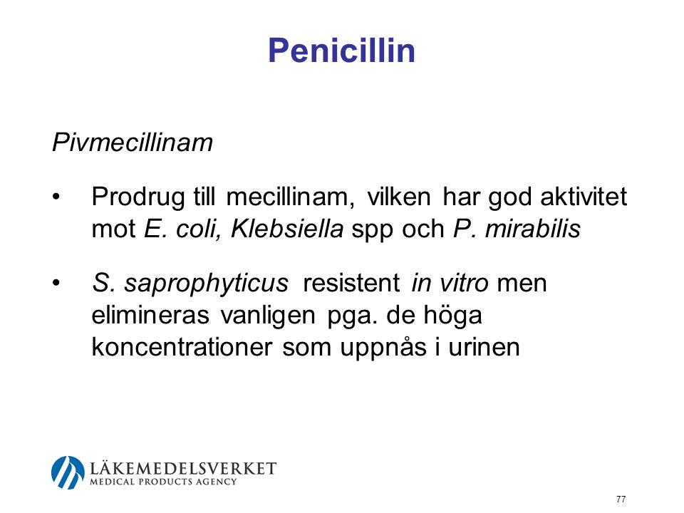 Penicillin Pivmecillinam