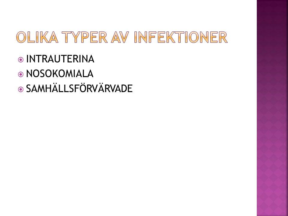 OLIKA TYPER AV INFEKTIONER