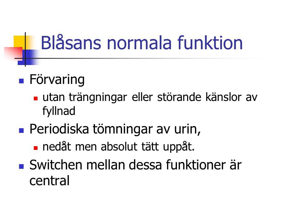 Blåsans normala funktion