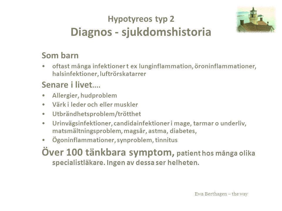 Hypotyreos typ 2 Diagnos - sjukdomshistoria