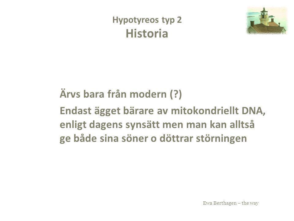 Hypotyreos typ 2 Historia