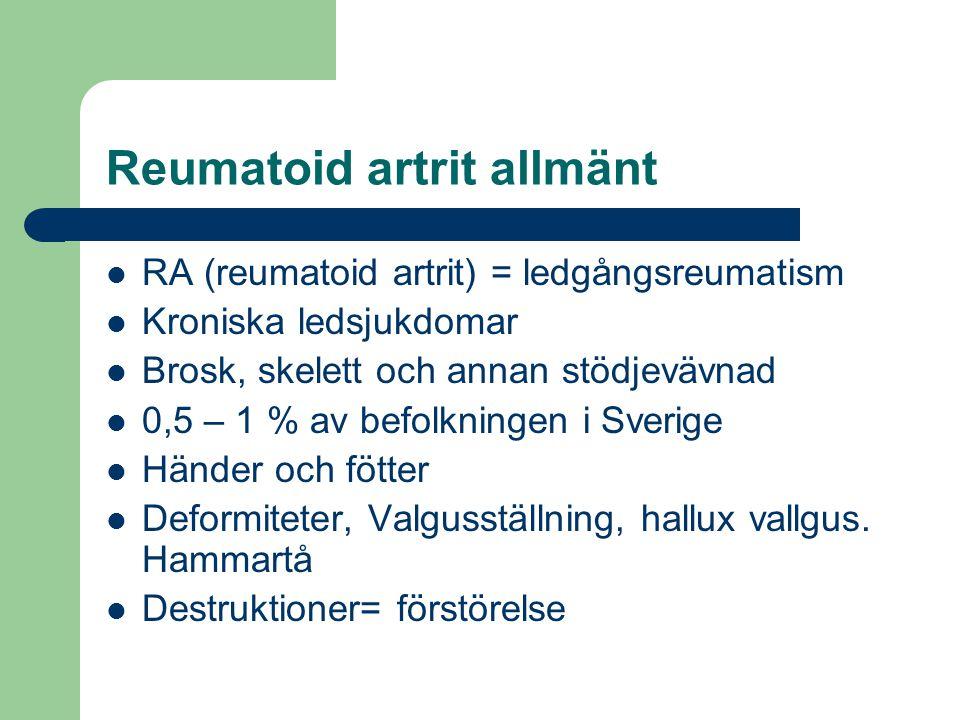 Reumatoid artrit allmänt