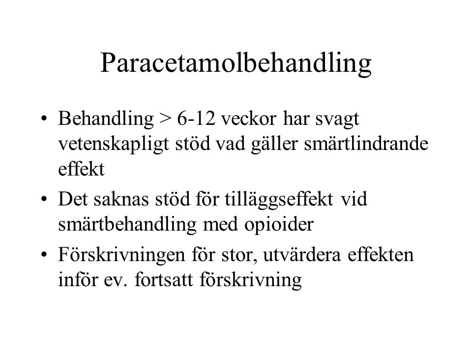 Paracetamolbehandling