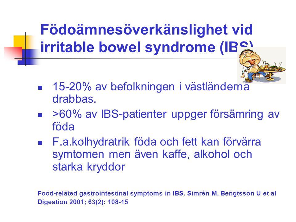 Födoämnesöverkänslighet vid irritable bowel syndrome (IBS)