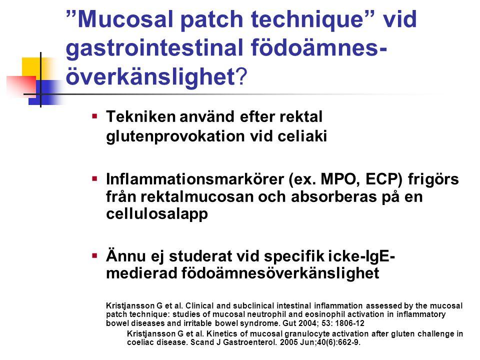 Mucosal patch technique vid gastrointestinal födoämnes- överkänslighet