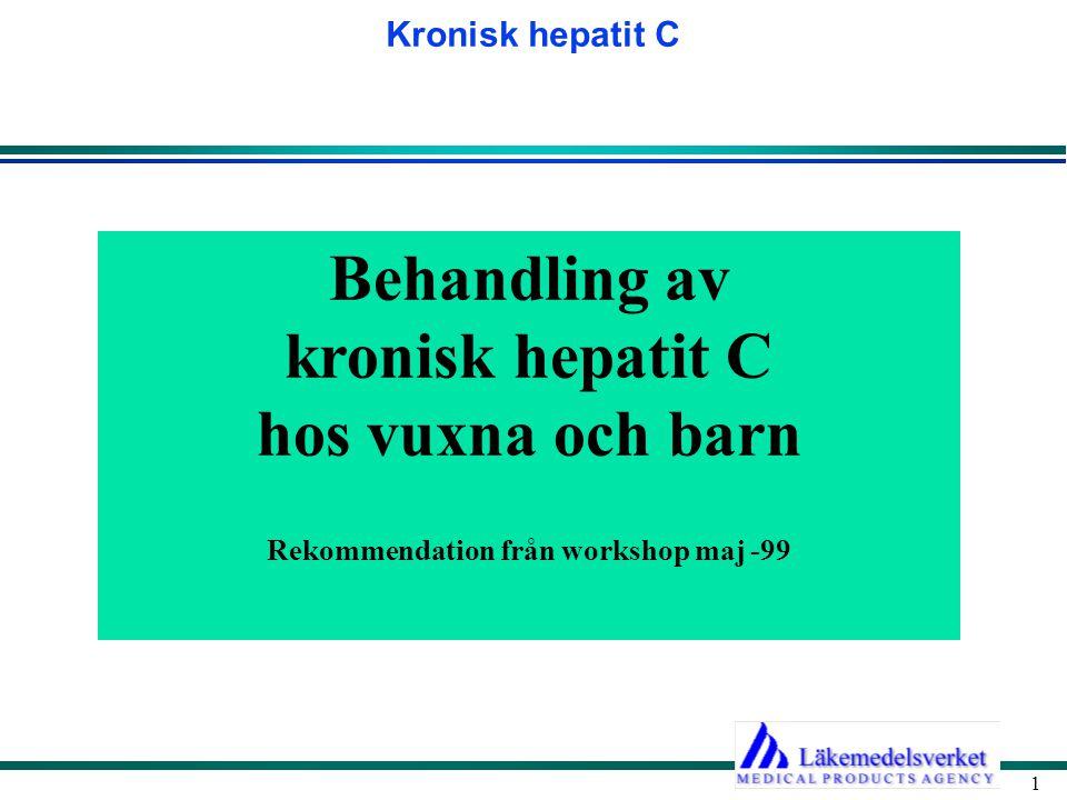 Behandling av kronisk hepatit C hos vuxna och barn