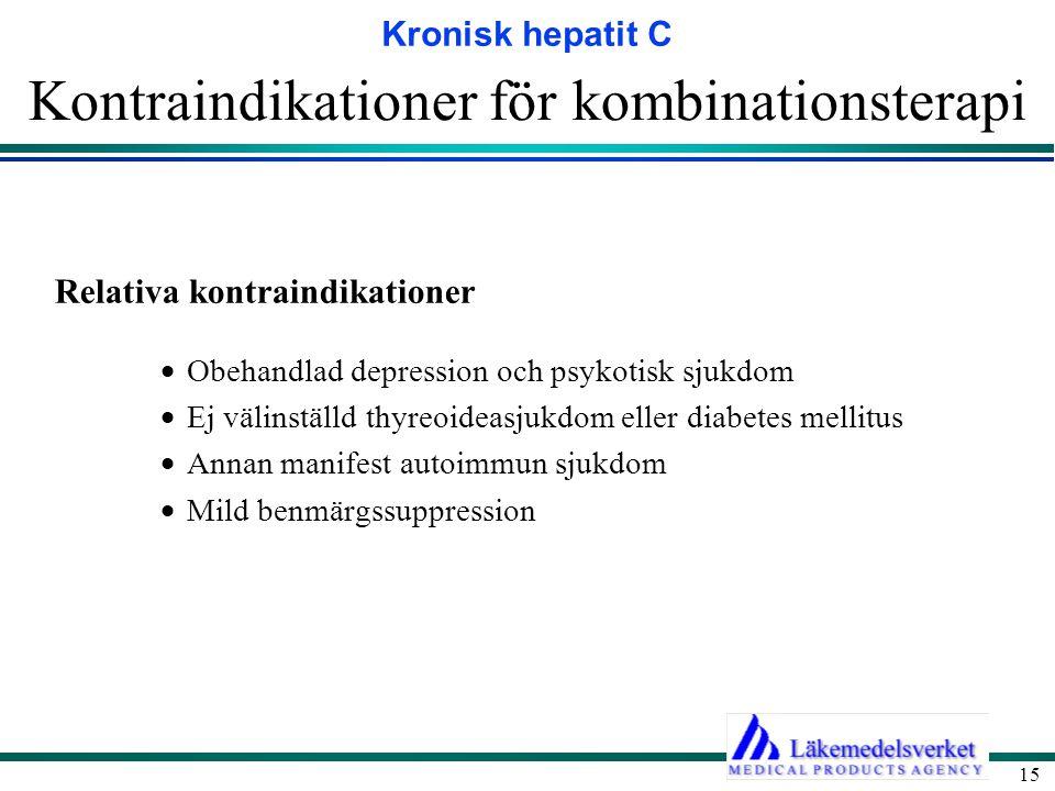 Kontraindikationer för kombinationsterapi