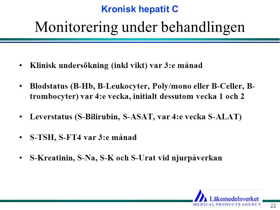 Monitorering under behandlingen