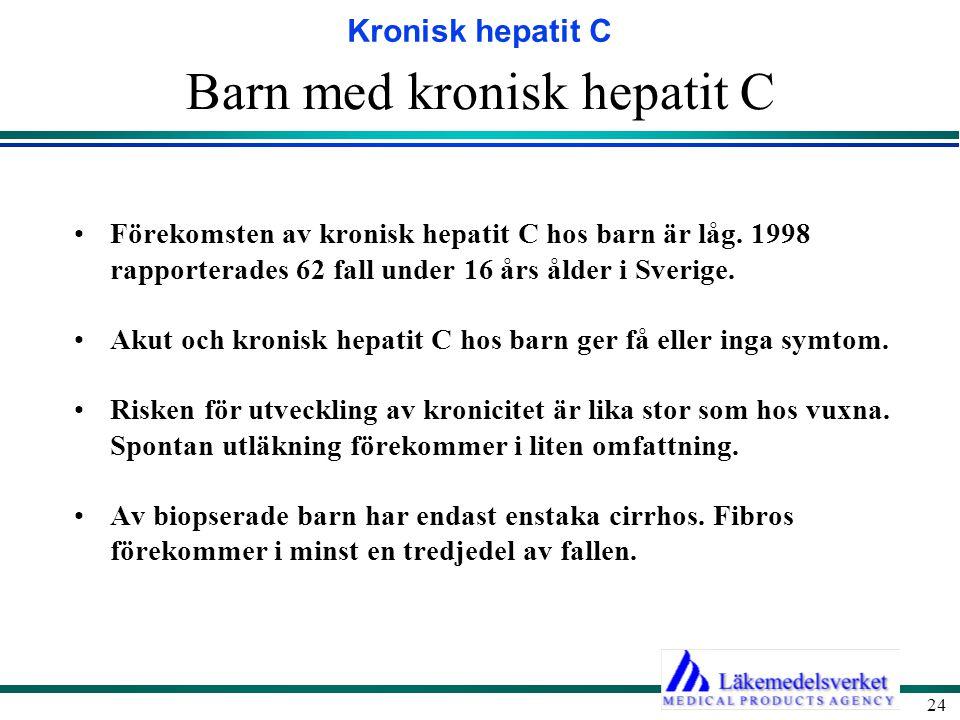 Barn med kronisk hepatit C