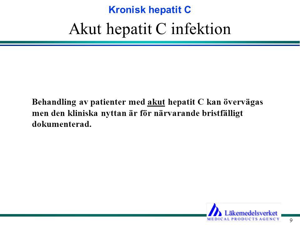 Akut hepatit C infektion