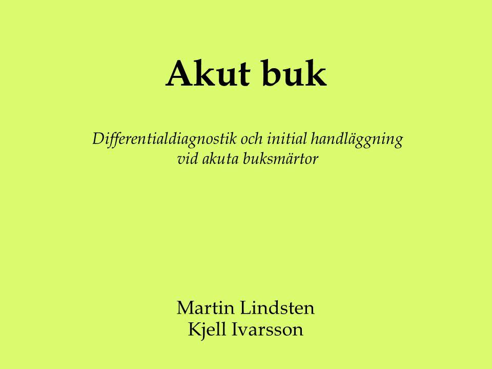 Akut buk Martin Lindsten Kjell Ivarsson