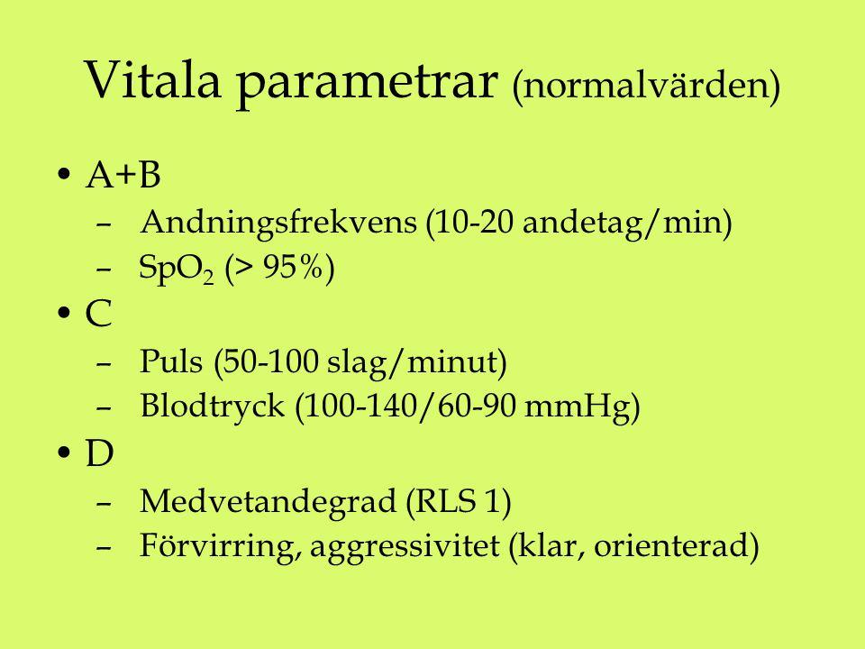 Vitala parametrar (normalvärden)