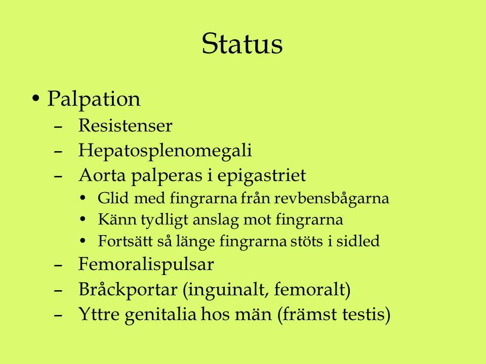Status Palpation Resistenser Hepatosplenomegali