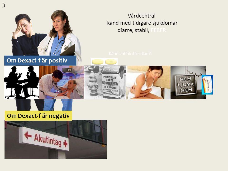Vårdcentral känd med tidigare sjukdomar diarre, stabil, FEBER