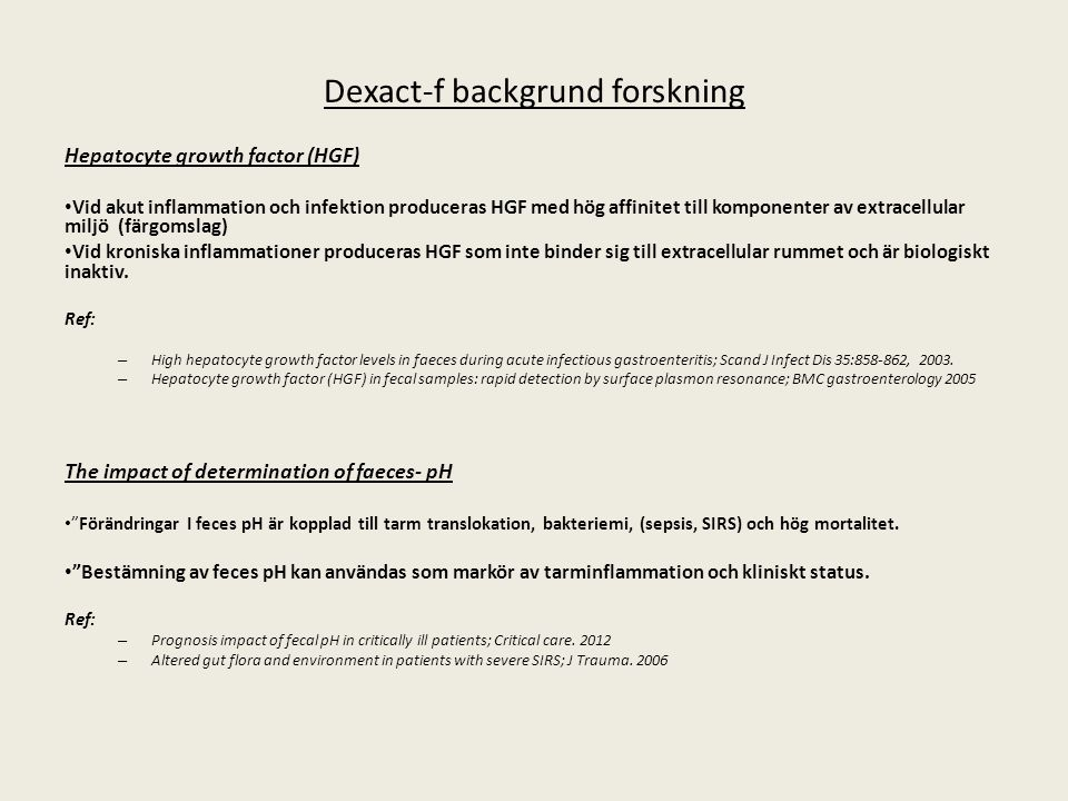 Dexact-f backgrund forskning
