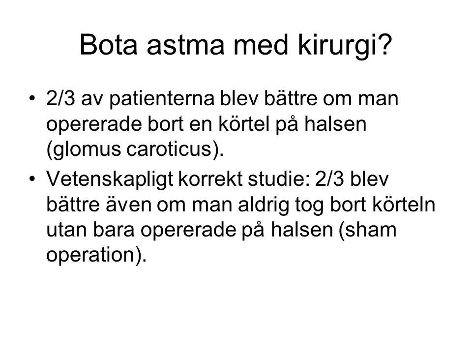 Bota astma med kirurgi 2/3 av patienterna blev bättre om man opererade bort en körtel på halsen (glomus caroticus).