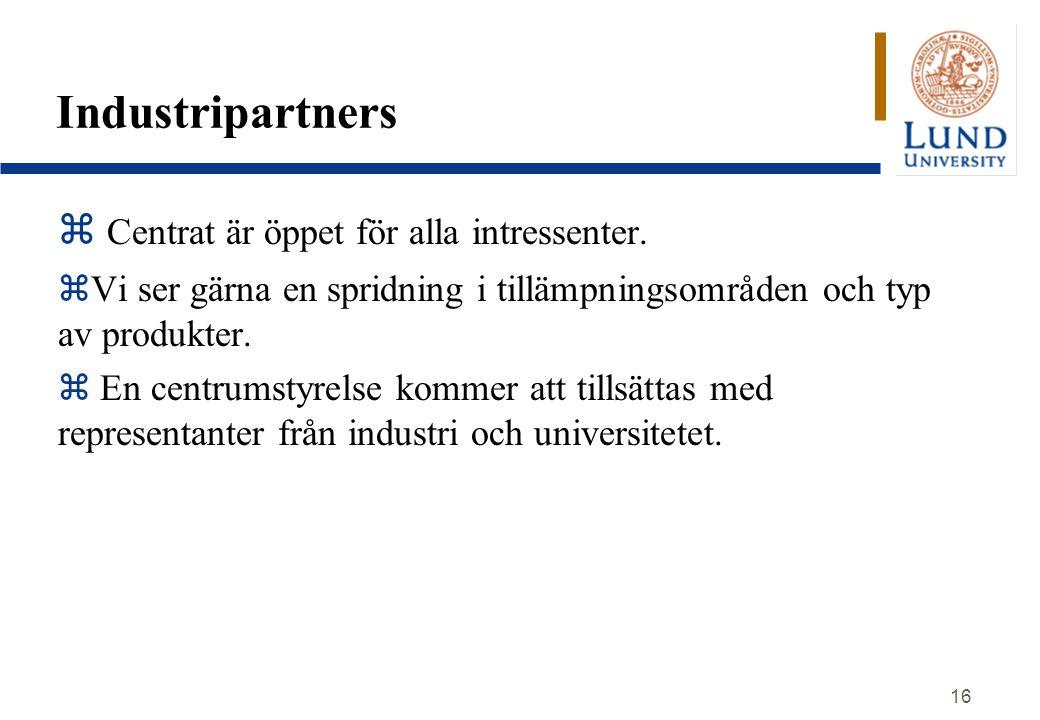 Industripartners Centrat är öppet för alla intressenter.