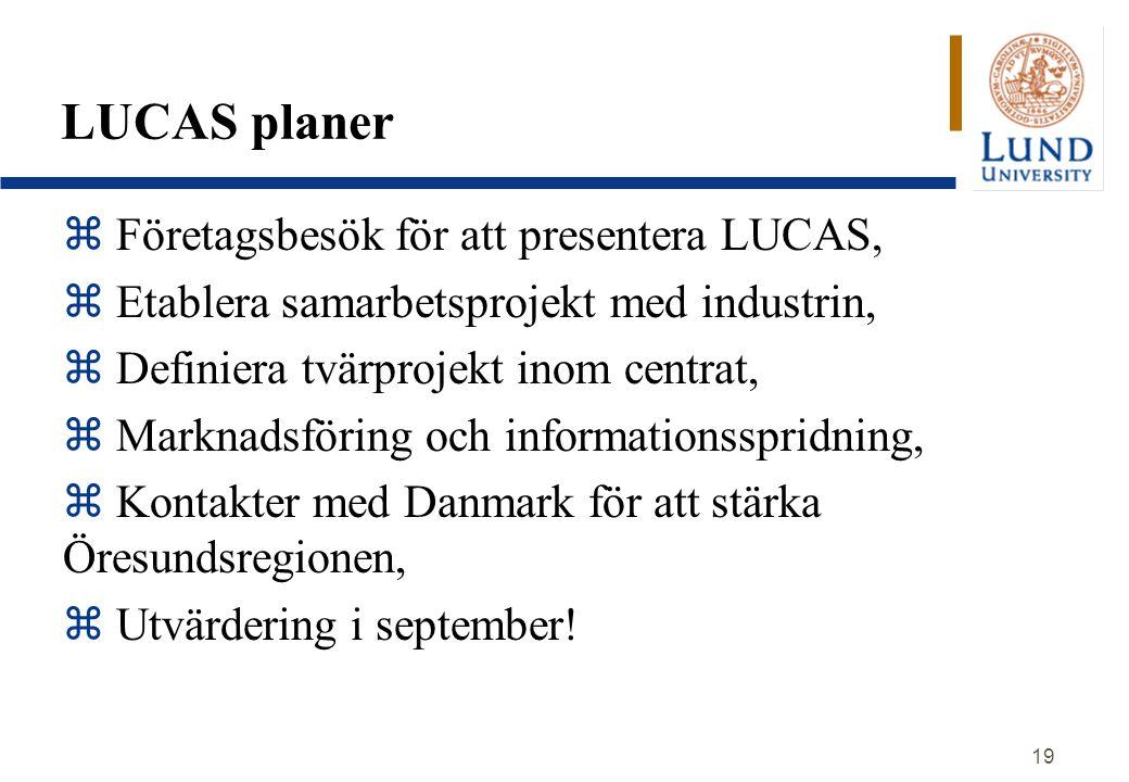 LUCAS planer Företagsbesök för att presentera LUCAS,