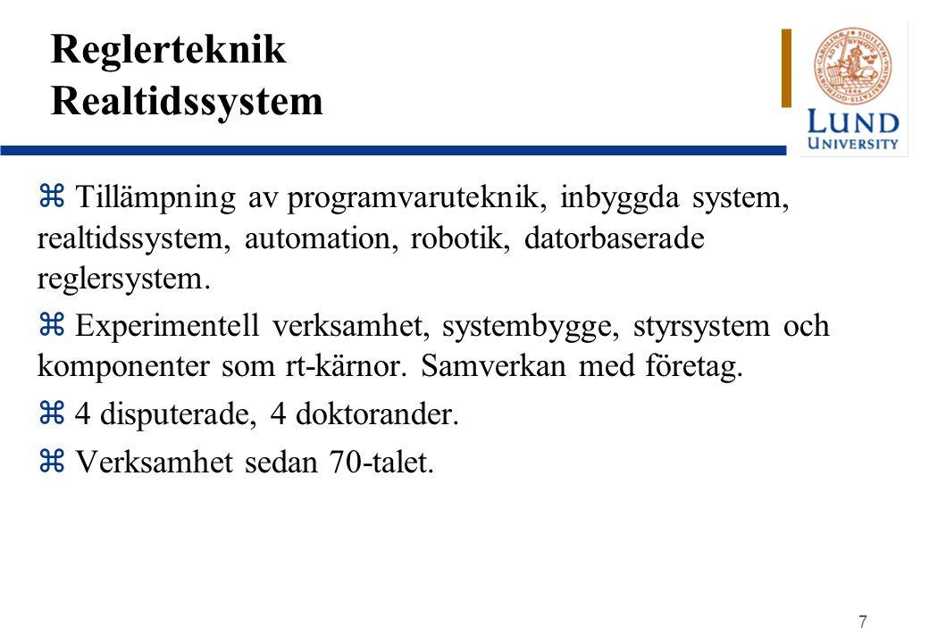 Reglerteknik Realtidssystem