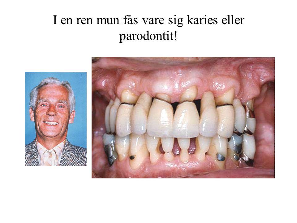 I en ren mun fås vare sig karies eller
