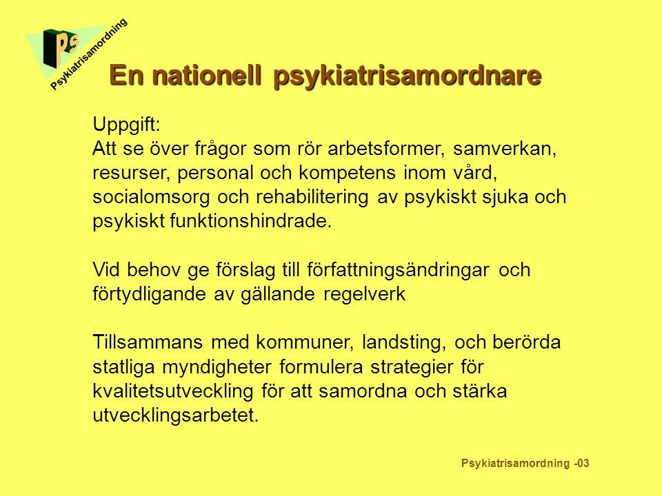 En nationell psykiatrisamordnare
