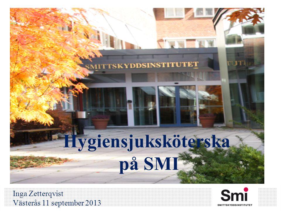 Hygiensjuksköterska på SMI