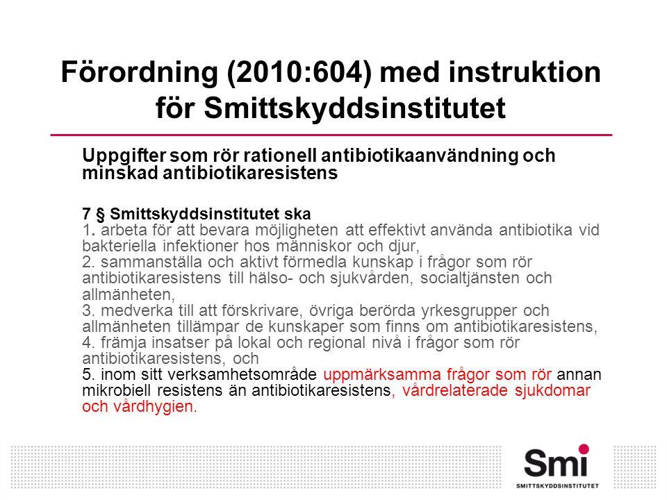 Förordning (2010:604) med instruktion för Smittskyddsinstitutet