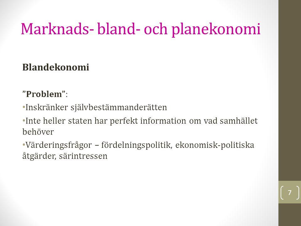 Marknads- bland- och planekonomi