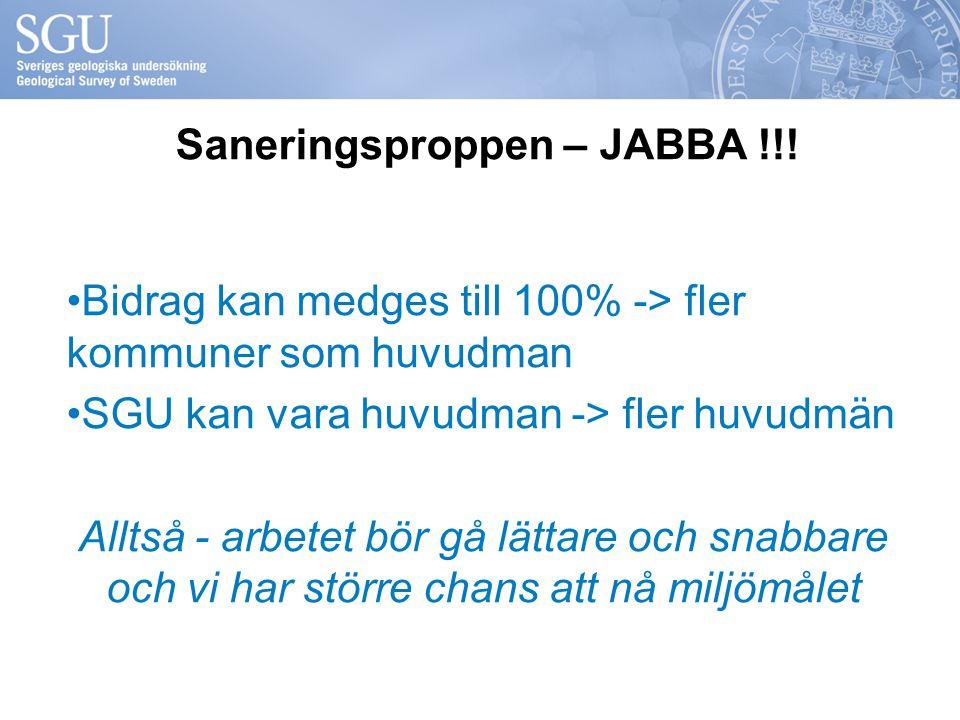 Saneringsproppen – JABBA !!!