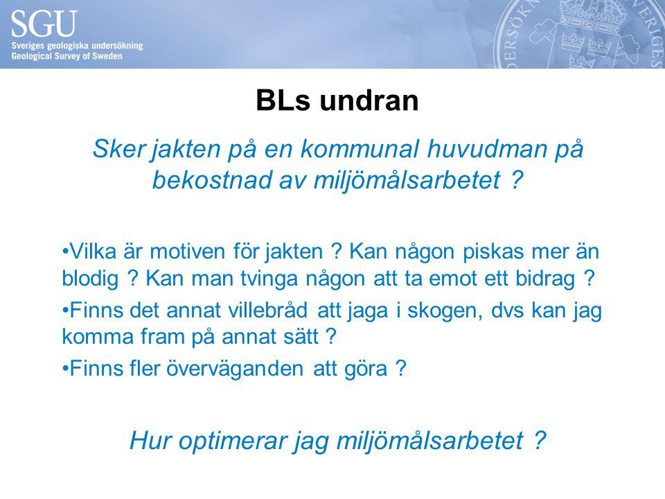BLs undran Sker jakten på en kommunal huvudman på bekostnad av miljömålsarbetet