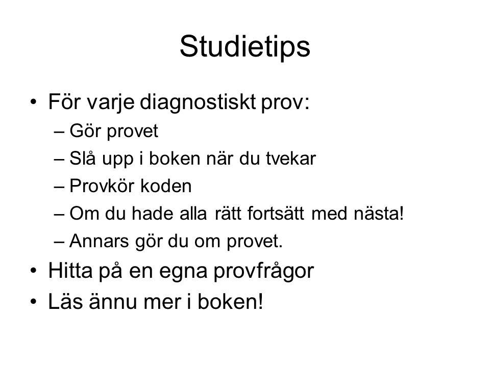 Studietips För varje diagnostiskt prov: Hitta på en egna provfrågor