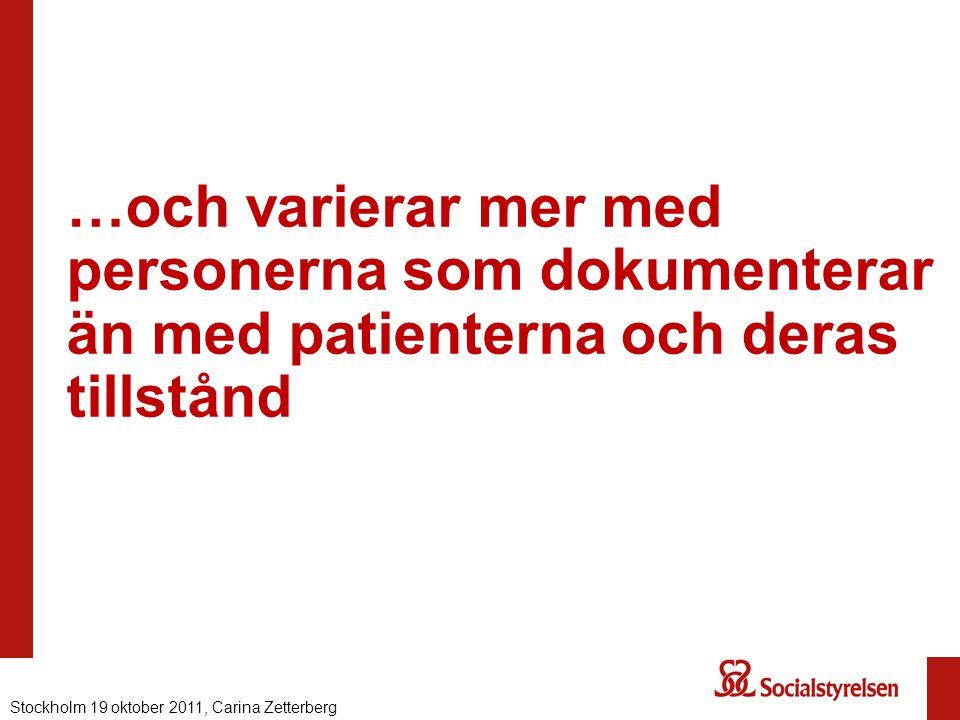 …och varierar mer med personerna som dokumenterar än med patienterna och deras tillstånd